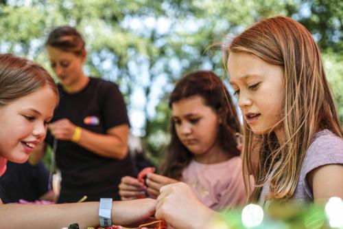 Familienfestival Zamhoidn mit der Kreativwerkstatt